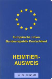 Nötig für die Fahrt ins Ausland: der EU-Heimtierausweis